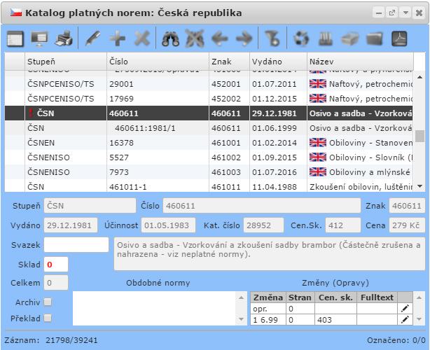 evinor Katalog platných norem 1
