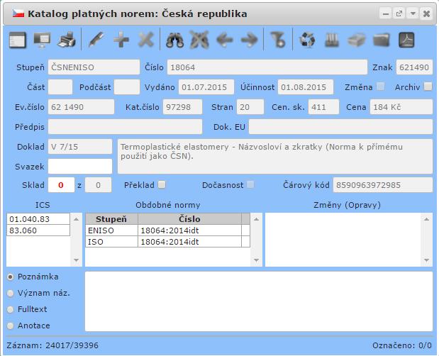 evinor Katalog platných norem 2