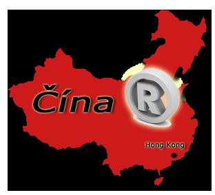 mapa Čína
